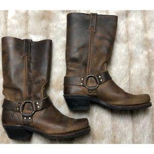 🍁 Women's Frye Harness 12R Boots In Tan 🍁